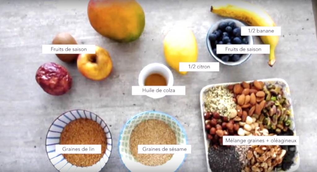 ingrédients du miam ô fruit - Mélanie Mordogan